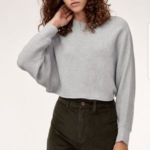 Aritzia Wilfred Free Grey Cropped Lolan Sweater S